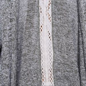 Maurices Sweaters - maurice's grey cardigan with lace